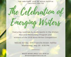 Celebration of Emerging Writers 2019